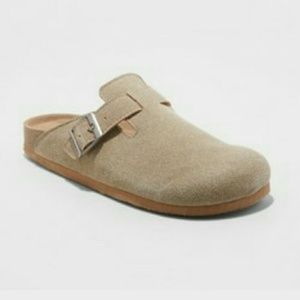 🎉 Mad Love Taupe slide on microsuede shoe mule